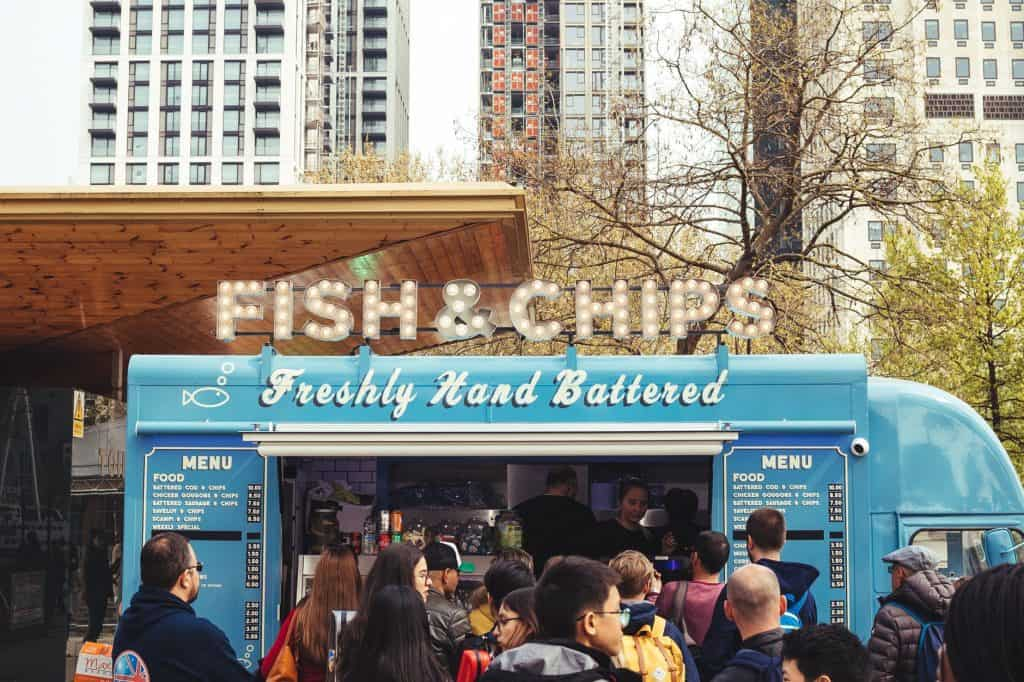 Fish and chips food truck